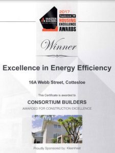 excellence in energy efficiency award